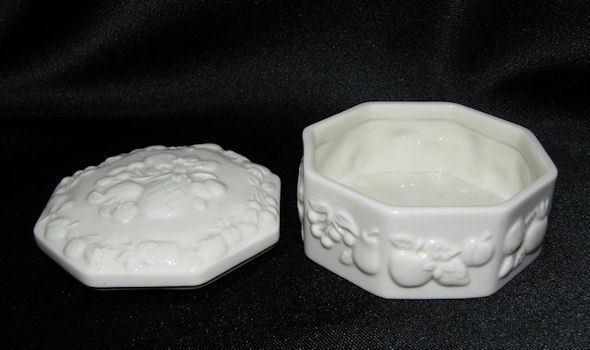 Lenox Porcelain Fruits of Life Octagonal Keepsake Trinket Box