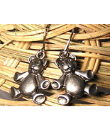 Pewter Teddy Bear Earrings - $3.00