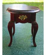 Dollhouse Miniature Round Telephone Table w/ Drawer NIB - $9.99
