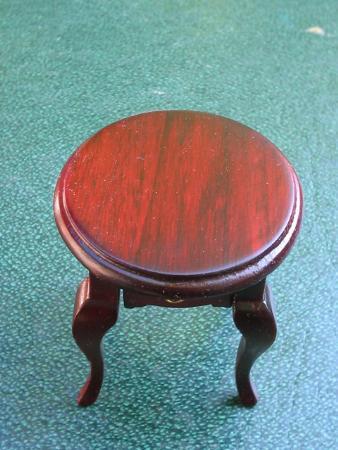 Dollhouse Miniature Round Telephone Table w/ Drawer NIB