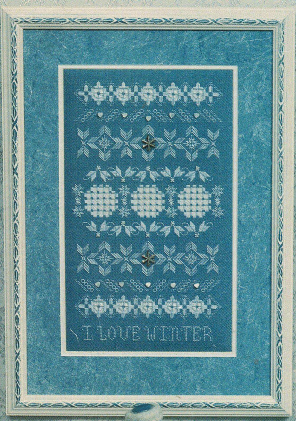 I Love Winter Hardanger Embroidery Seasonal Sampler Rosalyn Watnemo Book image 3