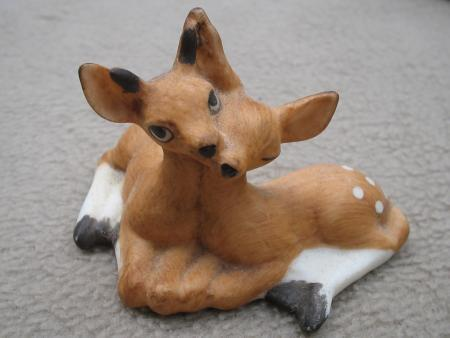 Fabrizio George Good Deer Fawns Figurine 1986