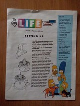 2004 Game of Life Simpsons Edition Replacement Part Instructions - $8.53