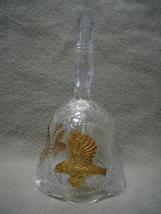 Emson Lead Crystal Gold Eagle Pledge Bell  - $9.99