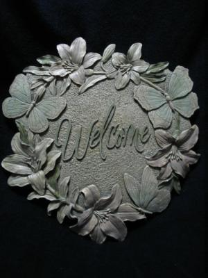 Butterfly Lillies Garden Welcome Stepping Stone NIB