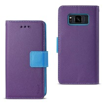 Reiko Samsung Galaxy S8 Active 3-in-1 Wallet Case In Purple - $9.00