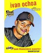 2008 Topps Heritage Ivan Ochoa rookie San Francisco Giants - $1.50