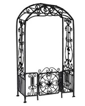 Dollhouse Miniature Arbor w/Gate, Black Wire #EIWF512 - $34.39