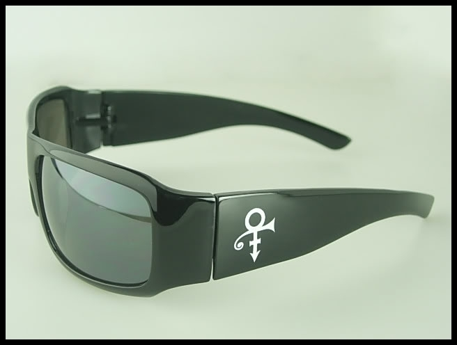 Prince Symbol Sunglasses Artist Logo Black Brand New in Case