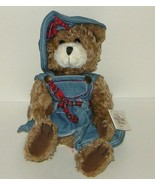 1/2 Price! Ganz Cottage Collectibles Plush Brown Mary Lou Bear Denim NWT - $4.00