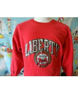 Vintage 90's Liberty Flames University Champion Crew Neck Sweatshirt M  - $59.39