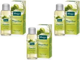 Kneipp Cosmetic Caring Oil Bath Lemongrass and Olive 100ml Pack of 3 - $61.00