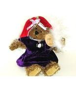 50% off! Plush Image Ellis Red Velvet Hat Purple Dress Plush Bear NWT - $3.00