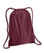 "Liberty Bags 8881 S 14"" x 18"" Maroon sport cinch Duro chord backpack boo... - $7.27"