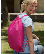 """Liberty Bags 8881 S 14"""" x 18"""" HOT PINK cinch duro chord backpack sport bag - $3.33"""