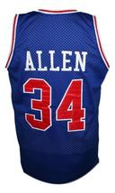 Ray Allen #34 Hillcrest High School Basketball Jersey New Sewn Blue Any Size image 4