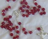 Red austrian beads rosary thumb155 crop
