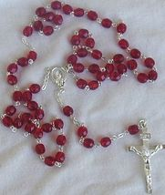 Red austrian beads rosary thumb200