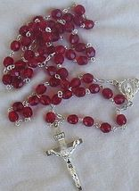 Red austrian beads rosary 1 thumb200