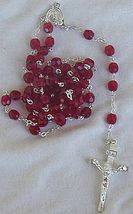 Red austrian beads rosary 2 thumb200