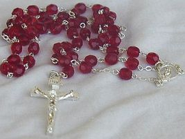 Red austrian beads rosary 4 thumb200