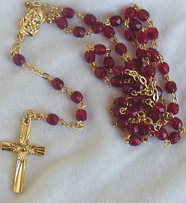 Red with gold cross