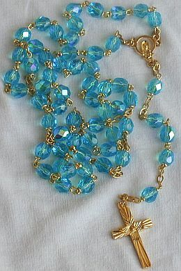 Primary image for Turquoise crystal Rosary