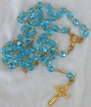 Turquoise crystal rosary 2 thumb200