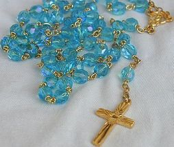 Turquoise crystal rosary 3 thumb200