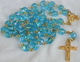 Turquoise crystal rosary 4 thumb200