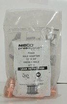 Nibco 9030750PC PC604 Wrot Copper Male Adapter 1/2 Inch by 3/4 Inches image 1