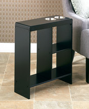 The Lakeside Collection Slim End Table with Drink Holders (Black) - $74.98