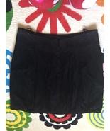 Luisa Spagnoli Tulip Black Suede Skirt, New - $80.00