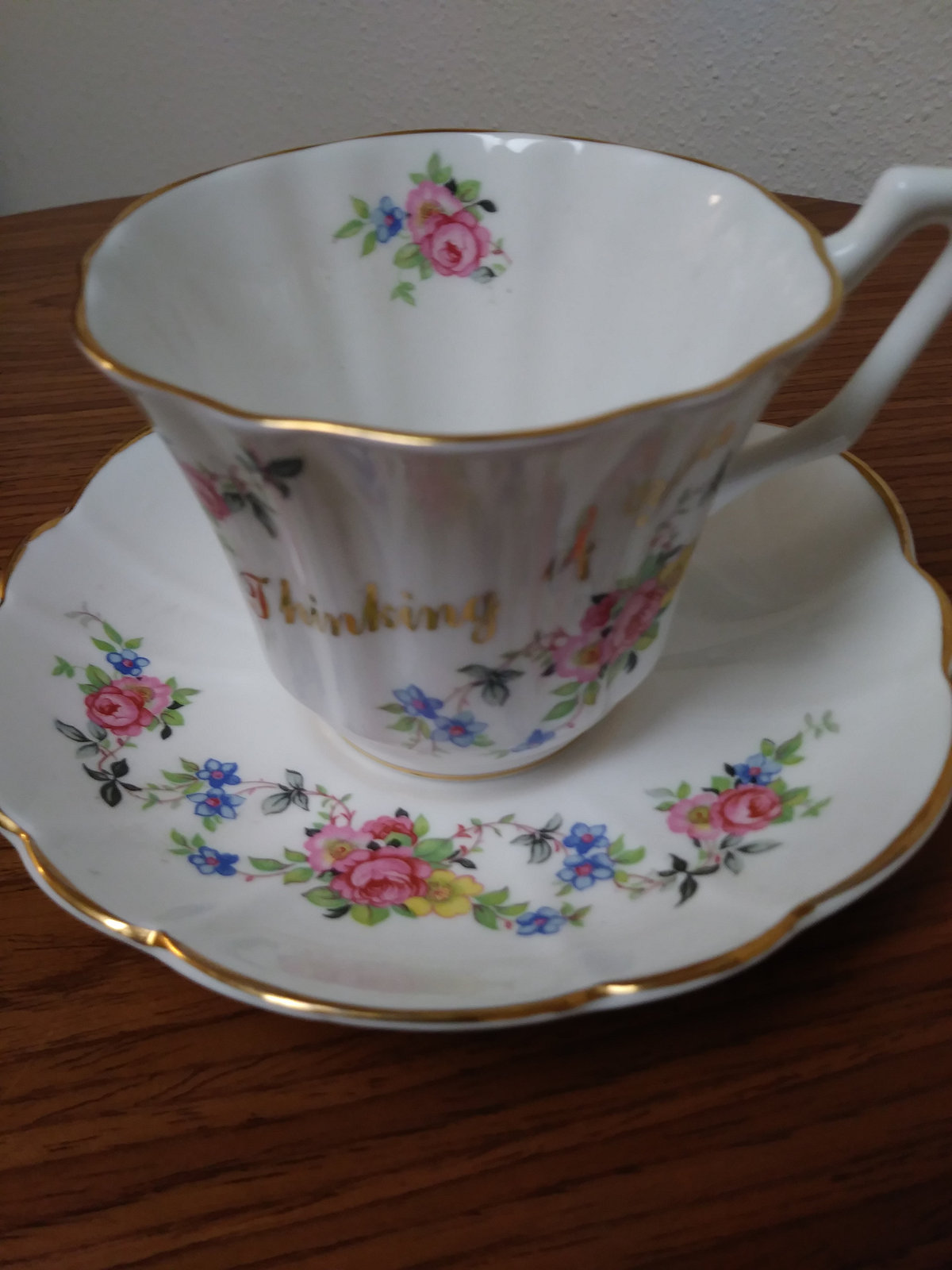 Grosvenor Bone China Teacup And Saucer Set Jackson & Gosling made in England