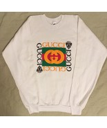 Gucci Bootleg Fruit of the Loom White Sweatshirt Crewneck Sweater XL Ext... - $499.99