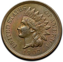 1907 Indian Head Cent Penny Coin Lot A 298