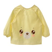 Lovely Smocks Baby Feeding Clothes Baby Bibs Happy Face ,Yellow - $13.01