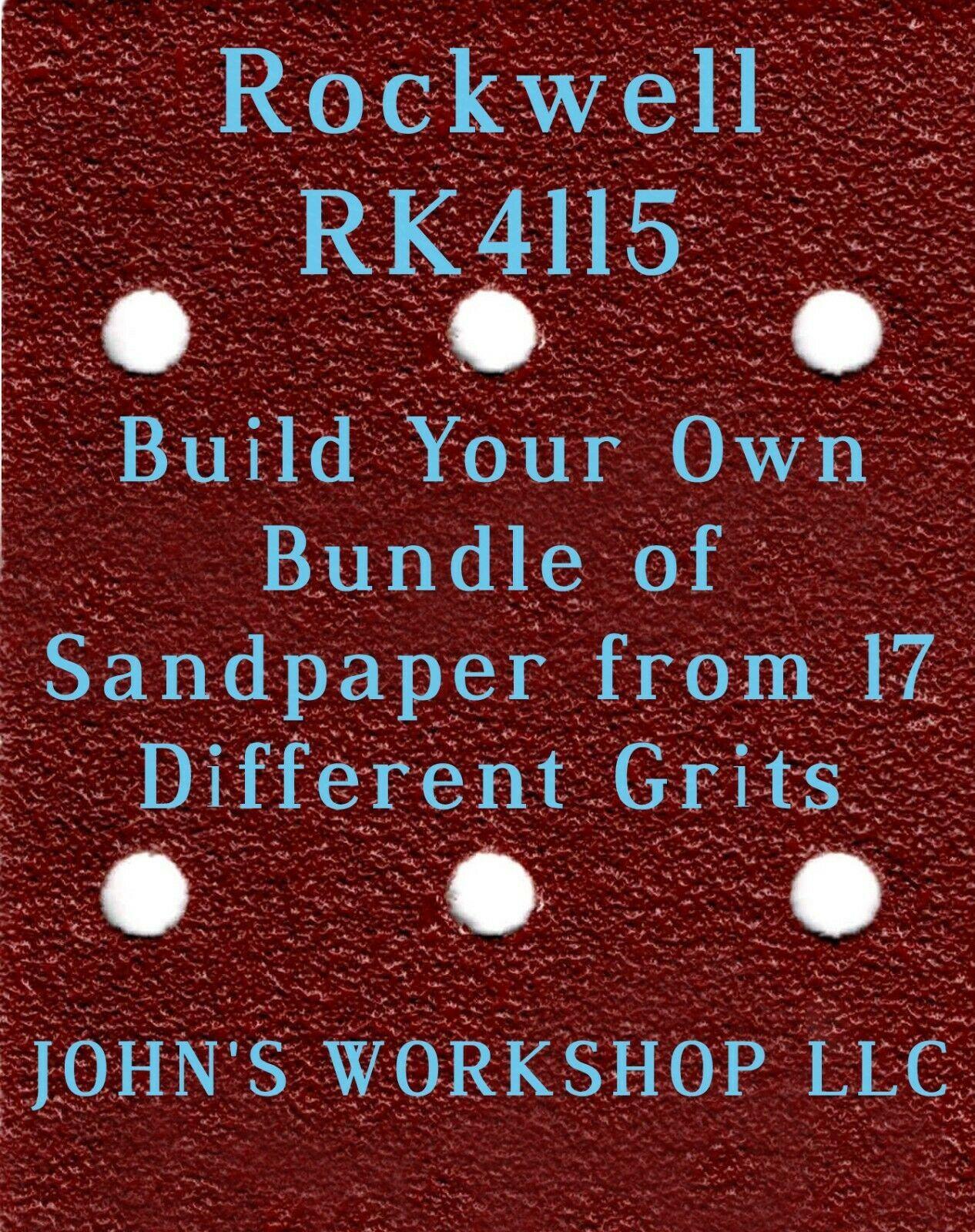 Build Your Own Bundle of Rockwell RK4115 1/4 Sheet No-Slip Sandpaper - 17 Grits - $0.99