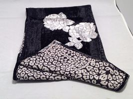 Gorgeous Combo Scarf Velvet and Satin floral vintage rose abstract color choice image 5