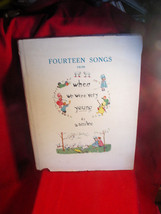 FOURTEEN SONGS WHEN WE WERE VERY YOUNG  - A. A. MILNE -1925 in dust jacket - $151.90
