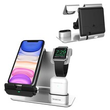 Smatree 3 in 1 Wireless Charging Station Compatible for Apple Watch, Air... - $73.99