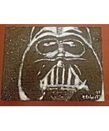 DARTH VADER THE DARK LORD ORIGINAL POP ART ON 9X12 STRETCHED CANVAS - $47.49