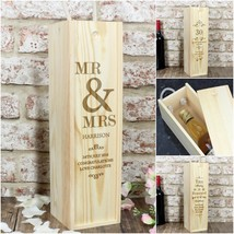Personalised Wine Bottle Presentation Box Special Occasion Gift |7 - $28.87