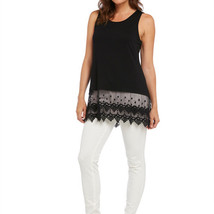 Beautiful Black Knit Lace-Trimmed Tank Extender Camisole by Kaktus- NOW ... - $26.90