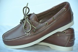 NEW Bass & Co. Outdoors Mens Sz 7.5 M Brown Leather Casual Deck Shoes - $34.64