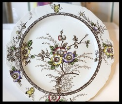 """13 3/4"""" Alfred Meakin Handled Cake Plate Medway Decor ca 1910 - $62.00"""