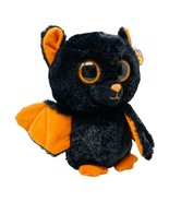 """TY Beanie Boos MIDNIGHT the 9"""" Bat With Purple Hang Tag & Solid Orange E... - $33.00"""