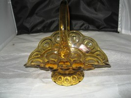 Moon & Stars amber glass handled basket, Heritage by L E Smith - $15.99