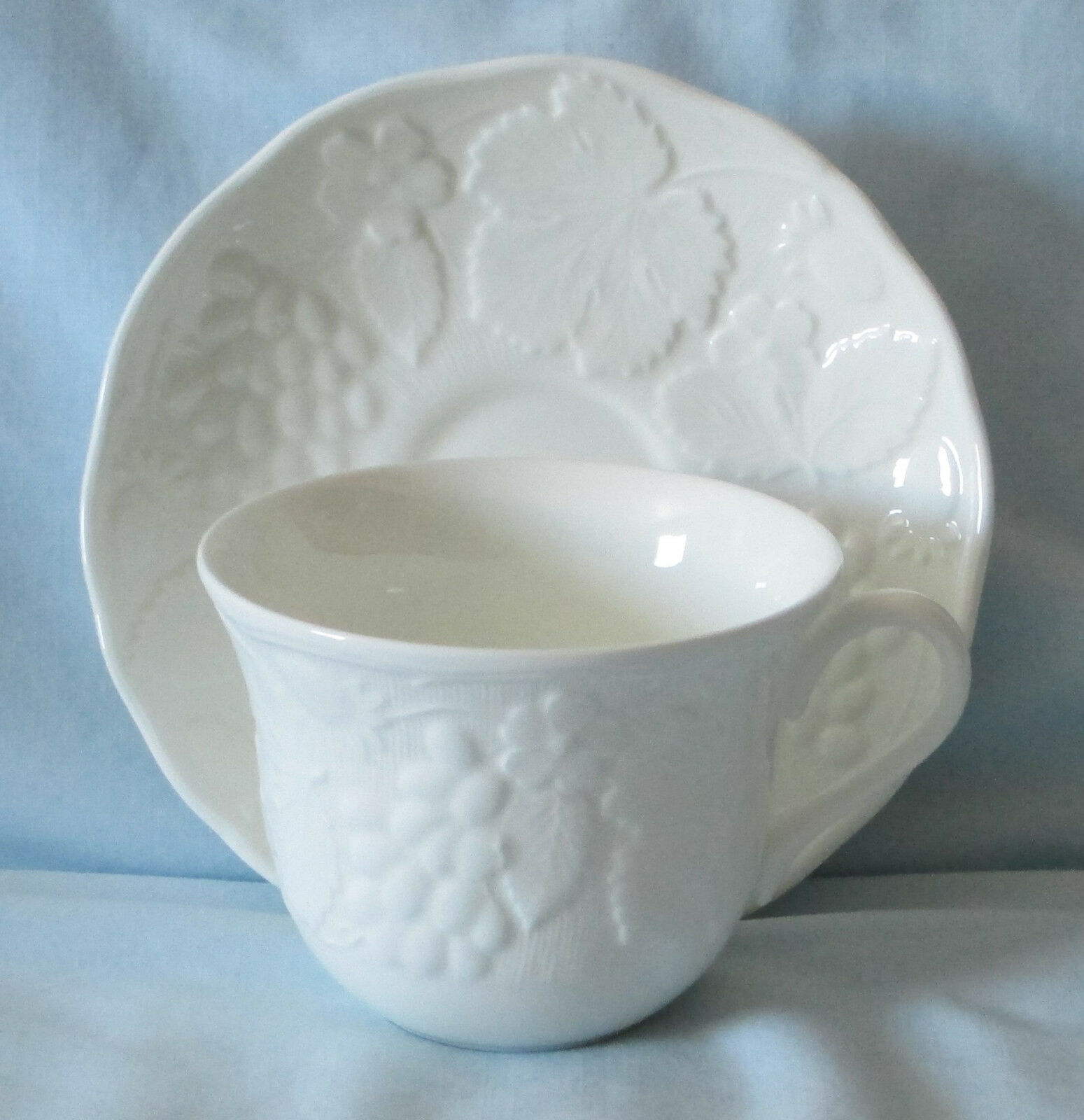 Wedgwood Strawberry & Vine White Cup and Saucer