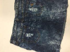 Vip Jeans Acid Wash Skirt Above Knee Regular Fit   Blue Cotton Size 11/12 image 8